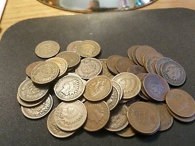 Roll of Circulated Indian Head Pennies 1900's [All Dates Except 1908S & 1909S]