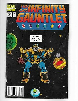 Infinity Gauntlet #4 (July, 1991) 2.0 GD Newsstand Edition