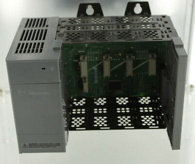 Allen Bradley Ab Slc-500 1746-A4 4Slot Chassis & 1746-P1 Rack Mount Power Supply