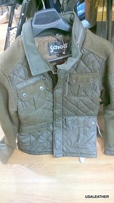 schott nyc Wool&nylon blends NEW/ w/tags olive color small large or xlarge only
