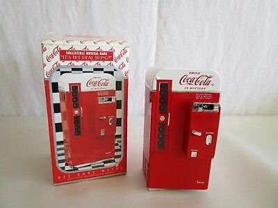 Coca Cola Die Cast Metal Musical Bank  #ck127092