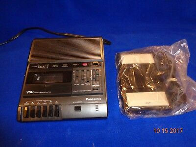 Panasonic RR-830 Standard Cassette Tape Transcriber & RP-2692 Foot Pedal, Manual