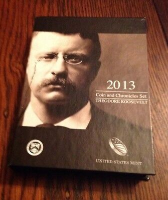 2013 U.S. Mint Theodore Roosevelt Coin & Chronicles Set US United States