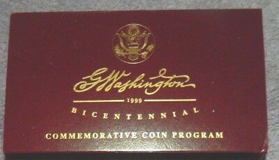 1999-W Gold G. Washington 2-Coin Bicentennial Set $5 Proof & $5 Uncirculated