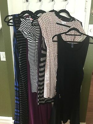 Womens Maternity Dress Lot Medium Motherhood Gap Old Navy H&M A Pea In The Pod