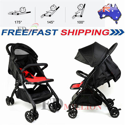 AU Compact Lightweight Baby Stroller Travel Pram Easy Fold Carry-on Plane 4.9KG