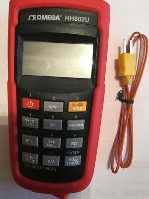 Omega HH802U High Accuracy Thermometer With Fluke K-thermocouple