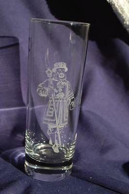 BEEFEATER Gin Frosted Logo Swiss Guard Tall Hiball Cocktail Liquor Glass
