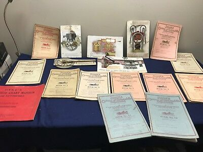 Vintage Lot Of Dyke's Automobile Working Models & Books Manuals 1913...rare