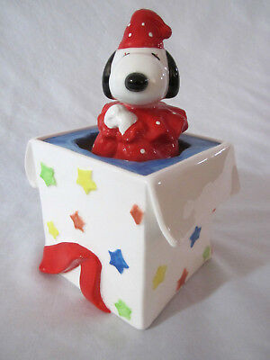 """Vtg 60's Schmid """"Be A Clown"""" Musical Collectibles Pop Up Snoopy Peanuts Schulz"""
