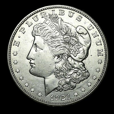 1921 D ~**ABOUT UNCIRCULATED AU**~ Silver Morgan Dollar Rare US Old Coin! #Z22
