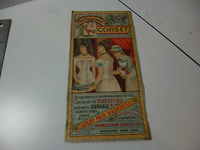 Bon Ton Corset Antique advertsing Color Flyer A M Fuller Meadville PA