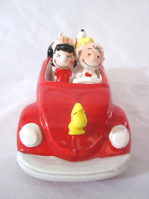 Vtg 80's Willits 40 Years Anniversary Peanuts Gang Snoopy Red Car Musical Figure