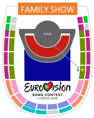 Eurovision 2018 - ONE TICKET - Entrada Grand Final Family Show 12 May -SECTOR 5