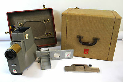 Vintage TDC DUO Slide Projector Mid Century Art Deco Industrial with Hard Case
