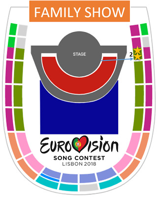 Eurovision 2018 - ONE TICKET - Entrada Grand Final Family Show 12 May -SECTOR 2