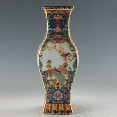 Chinese Enamel Porcelain Hand Painted Vase Made During The Qianlong Period FLC03