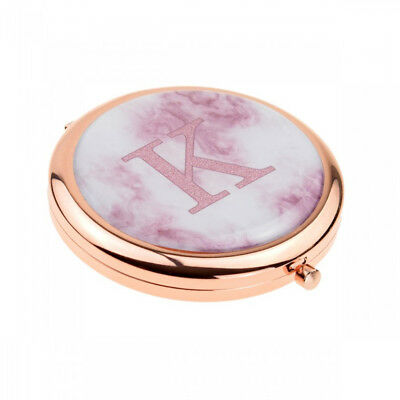 Rose Gold Plated Handbag Mirror with Personalised Initial Design