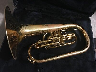 King bb  1120 marching Horn with Case
