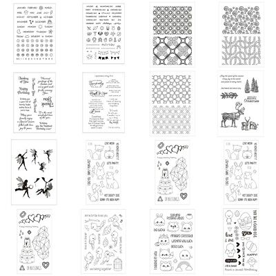 Transparent Clear Silicone Rubber Stamp DIY Cling Diary Scrapbooking Card Decors