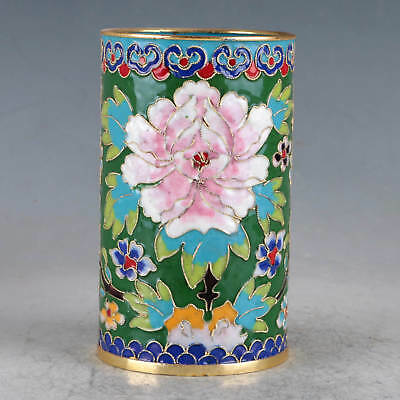 Chinese  Cloisonne Hand-made Flowers Brush Pots JTL1024