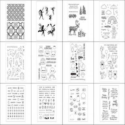 Transparent Silicone Rubber Stamp Cling Diary Scrapbooking DIY Card Craft Sheet