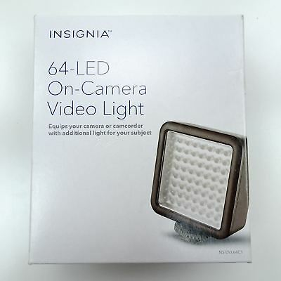 New Insignia Universal 64 LED Color-Balanced Video Light Dimmable 60 degree Beam