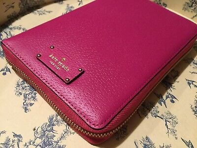 Kate Spade Zip Around 2017 AGENDA - Pink, Planner, Organizer, Wellesley NWT