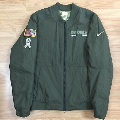 4dd02f99711 Oakland Raiders Salute to Service Nike Reversible Bomber Jacket Men's Sz  Medium