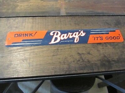 Vintage Barq's Root Beer Advertising Sign Drink Barqs Its Good Stout Sign Co Old