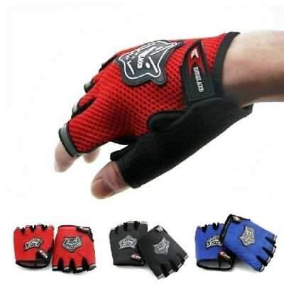 Kids Cycling Half Finger Gloves Boys & Girls MTB Bike Bicycle Mittens Fingerless