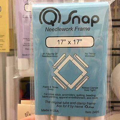 """Q Snap 17"""" x 17""""  needlework frame cross stitch quilting embroidery frame"""