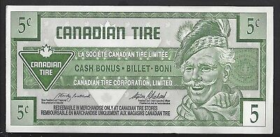"""UNC"" Canada Canadian Tire Money 5 Cents ""0023800xxx"""