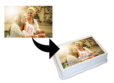 YOUR OWN PERSONALISED IMAGE Edible A4 or A5, Icing or Wafer Cake Topper