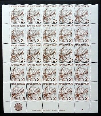 MALAWI 1982 - 2E Postage Due Sheet of 25 U/M NF813