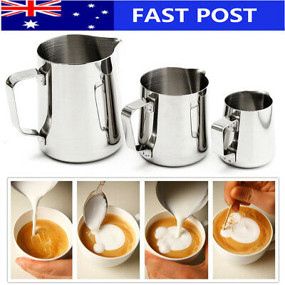 BABAN 150-600ML Stainless Steel Milk Frother Pitcher Coffee Tea Jug