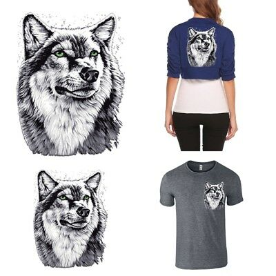 Wolf Patches T-shirt Heat Transfer Sticker Washable Clothing Iron On Applique