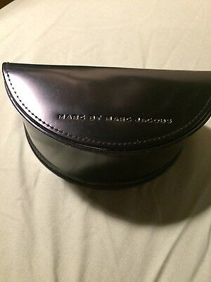 Marc By Marc Jacobs Black Half Moon Large Sunglasses Hard Case