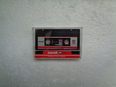 Vintage Audio Cassette MAXELL UR 60 From 1986 - Fantastic Condition !!