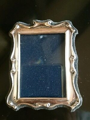 FAB STERLING SILVER PHOTO ~PICTURE FRAME SCROLL DESIGN R CARRS SHEFFIELD 1980's