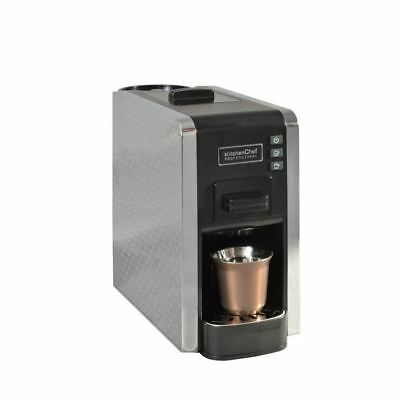 KITCHENCHEF MULTIGUSTO Cafetiere expresso multi-capsules - Gris/Noir