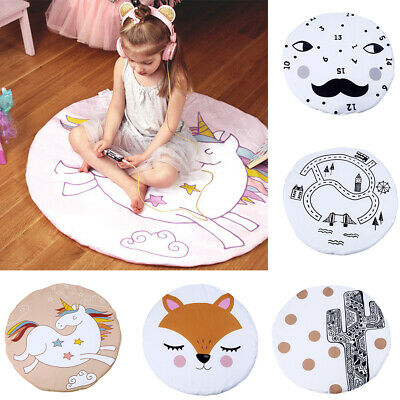 Soft Cotton Baby Kids Game Gym Activity Play Mat Crawling Blanket Fox Floor Rug