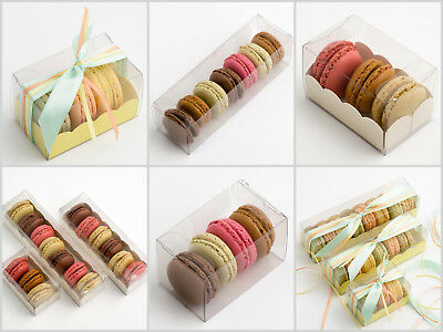 Macaroon Transparent Box  - Pack of 10 - Wedding Party Favours Boxes