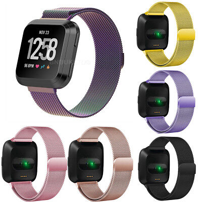 Replacement Milanese Loop Stainless Steel Watch Band Strap For Fitbit Versa