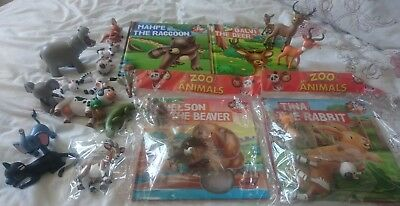My Zoo Animals Book & Figures Collection bundle X25 piece NEW/SEALED + USED VGC