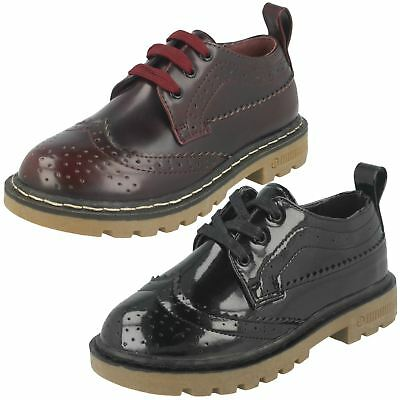 Girls Spot On Lace Up Brogue Shoes
