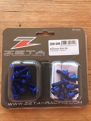 New Yamaha Yz 125 / 250 2008 -2018 Zeta Blue Aluminum Plastic Bolt Kit Mx