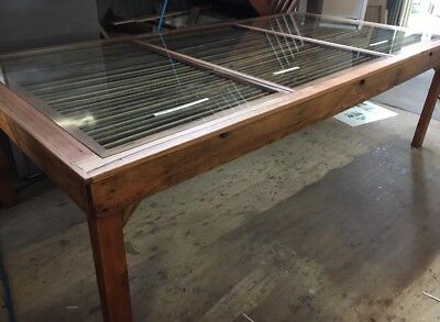 Fully Restored Wool Classing Dining Table