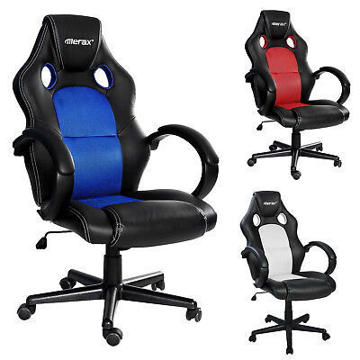 High Back Swivel Gaming Chair Racing Car Style Bucket Seat Office Desk Chair