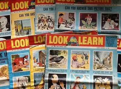 Look and Learn magazines - 30 copies: All from the year 1965
